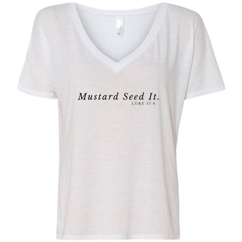 Mustard Seed It Women's Flowy V-Neck