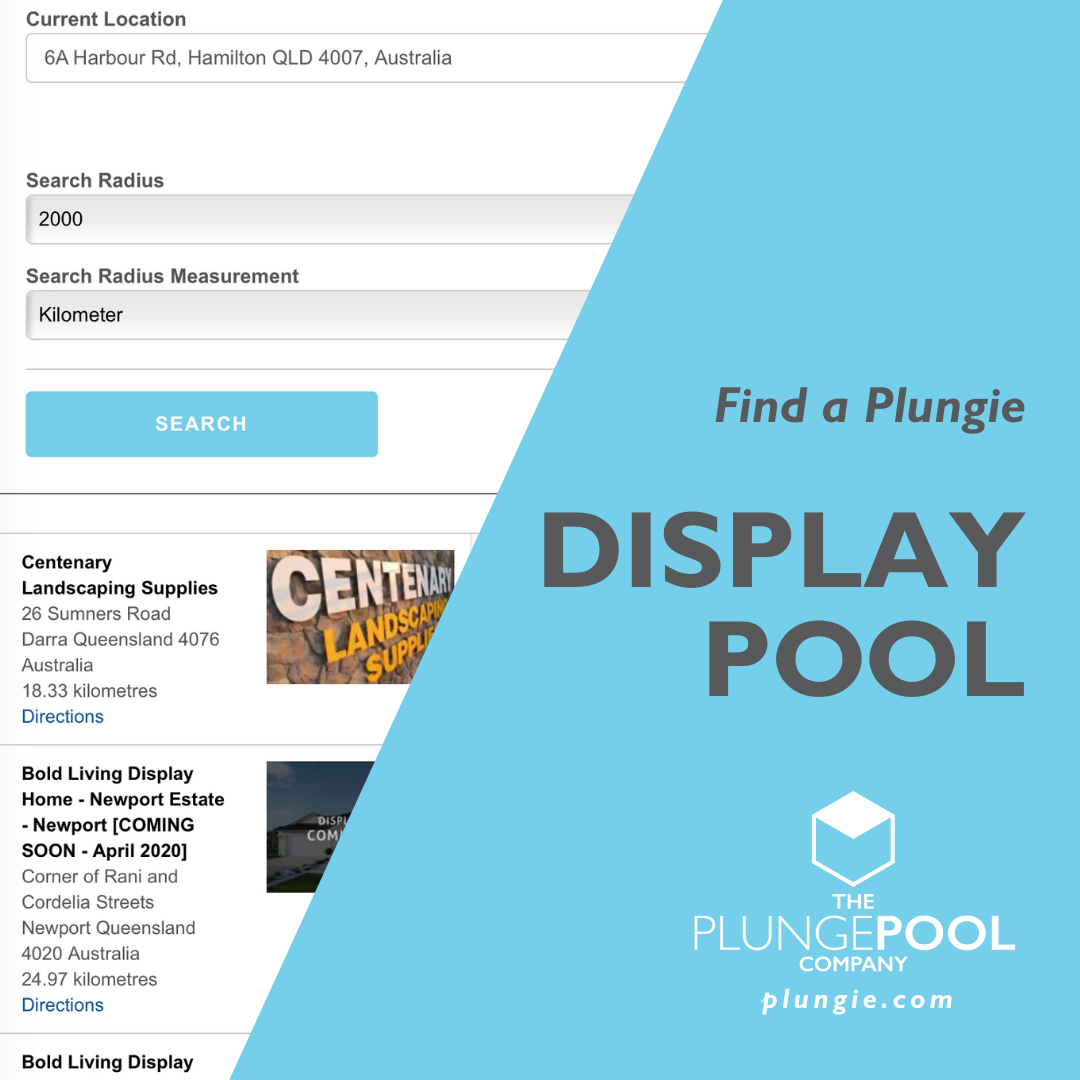 Plungie Display Pool Finder