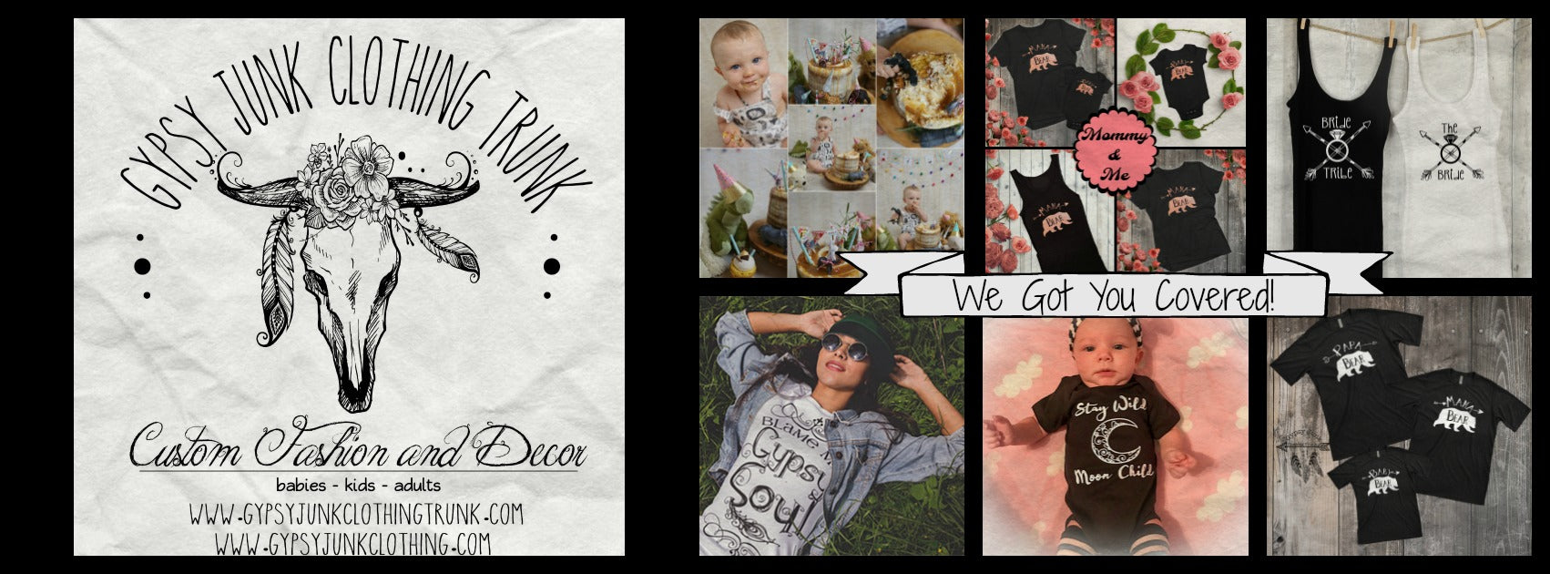 Gypsy Junk Clothing Trunk Banner