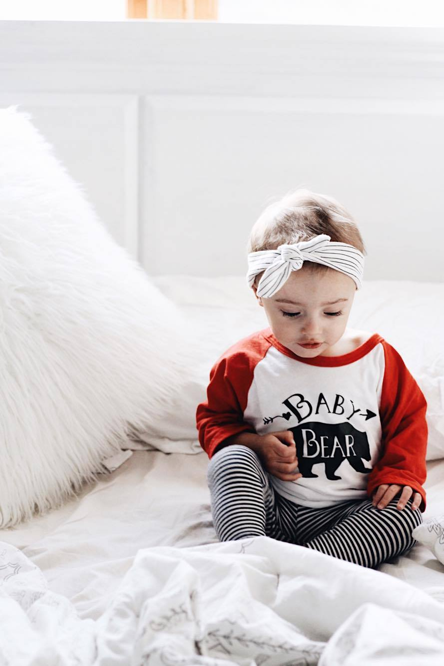 Baby Bear Shirt - Baby Bear Top for Baby - Bear Tops for Kids - Rebels and Roses Boutique