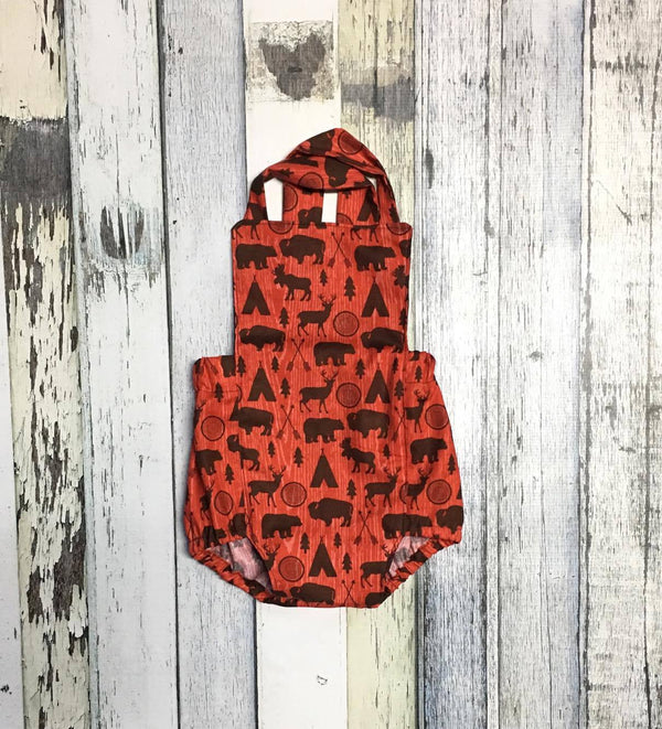 Woodland Baby Romper - Animal and Arrow Print Infant/Toddler Boy Romper