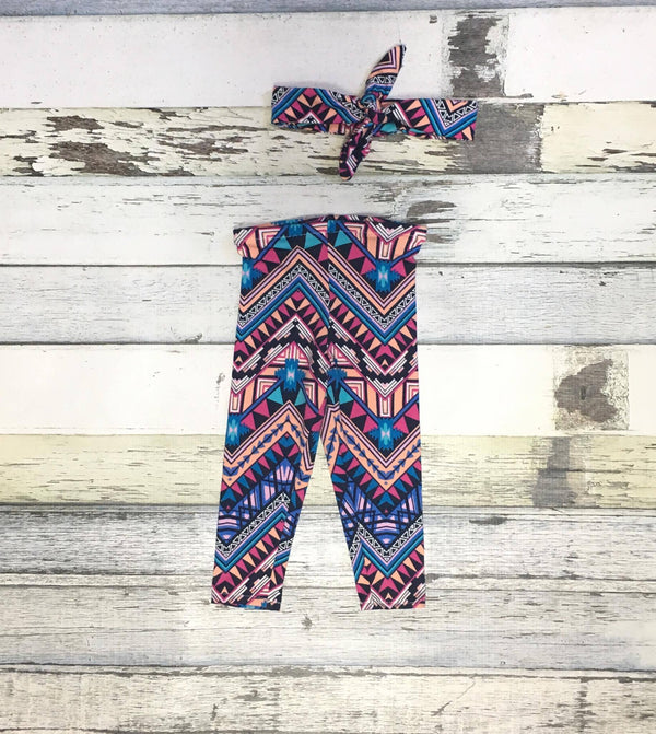 Baby Girl Leggings - Printed Leggings- Baby Clearance - Rebels and Roses Boutique