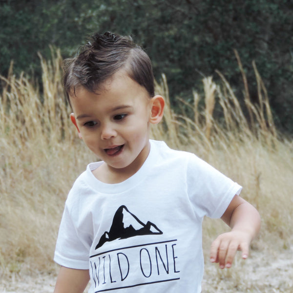 Wild One Tee - Boho Woodland Kids Top - Gypsy Junk Clothing Trunk