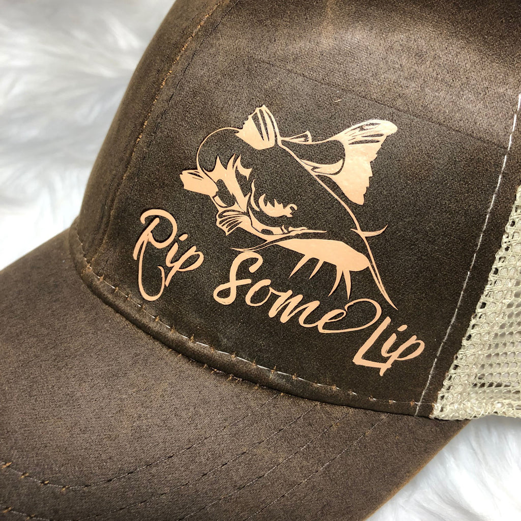 Rip Some Lip - Catfishing Themed Ball Cap - Rebels and Roses Boutique