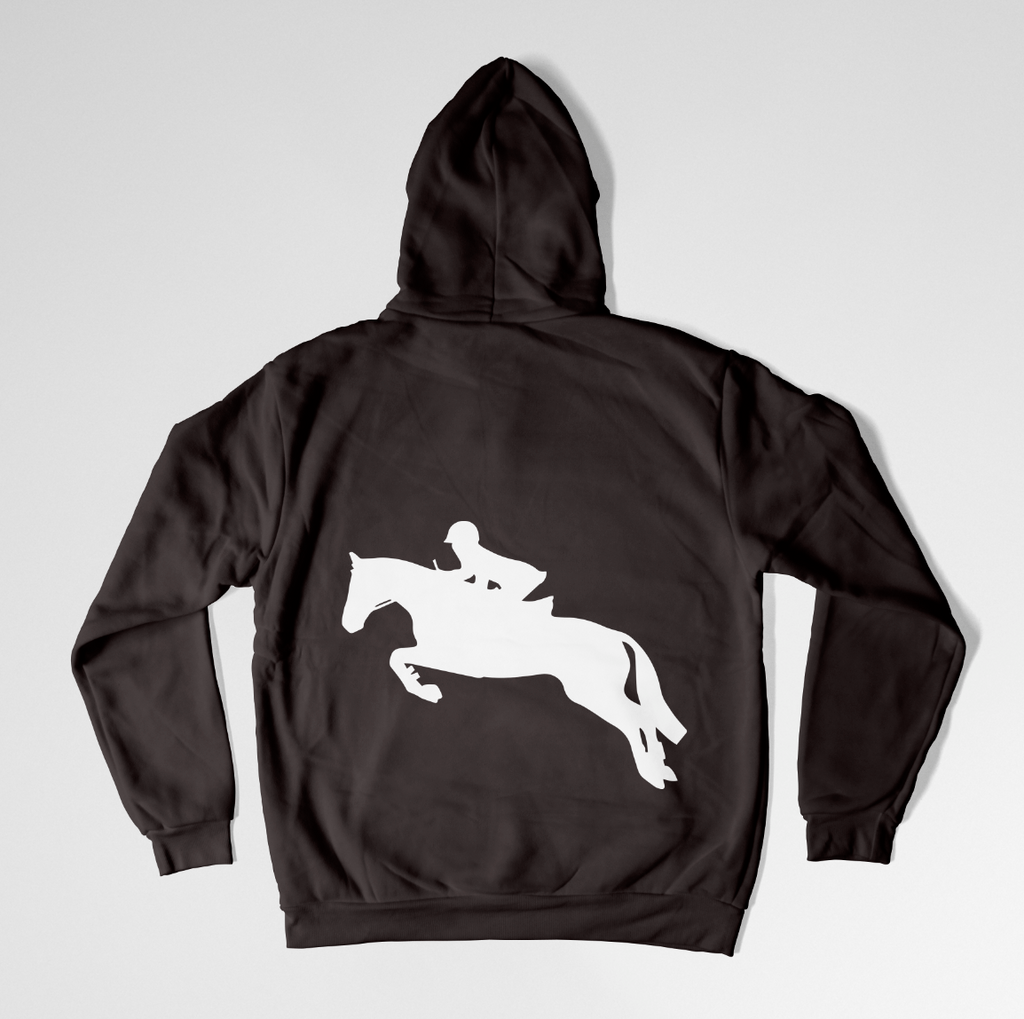 Horse Eventing / Jumping Hoodie - Equestrian Women's Hoodie - Rebels and Roses Boutique
