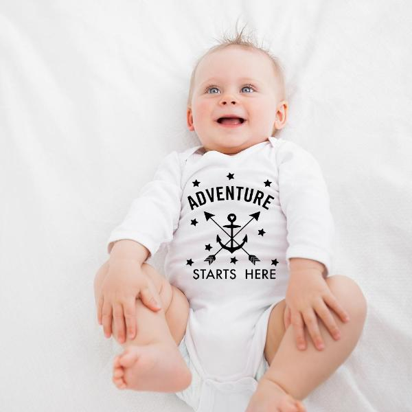 Adventure Starts Here Boho Baby Outfit - Gypsy Junk Clothing Trunk