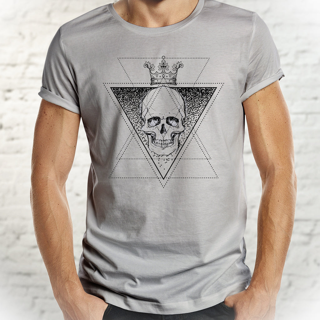 Alchemy King Skull Tee - Skull Shirt for Men - Rebels and Roses Boutique