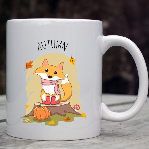 Fall Fox Coffee Mug - Woodland Drinkware