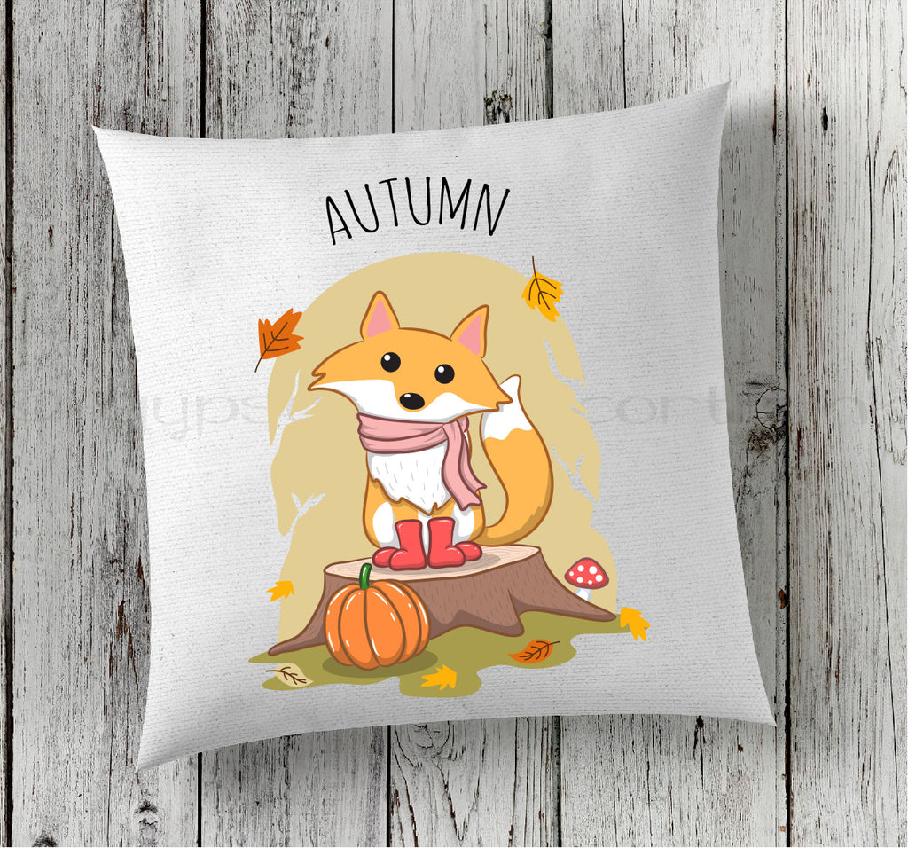 Autumn Pillow - Fall Fox Pillow - Seasonal Decor - Rebels and Roses Boutique