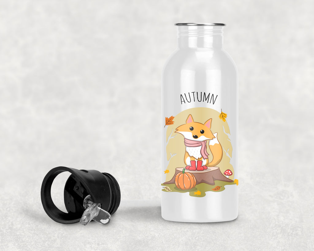 Fox Water Bottle, Fall Water Bottle - Rebels and Roses Boutique