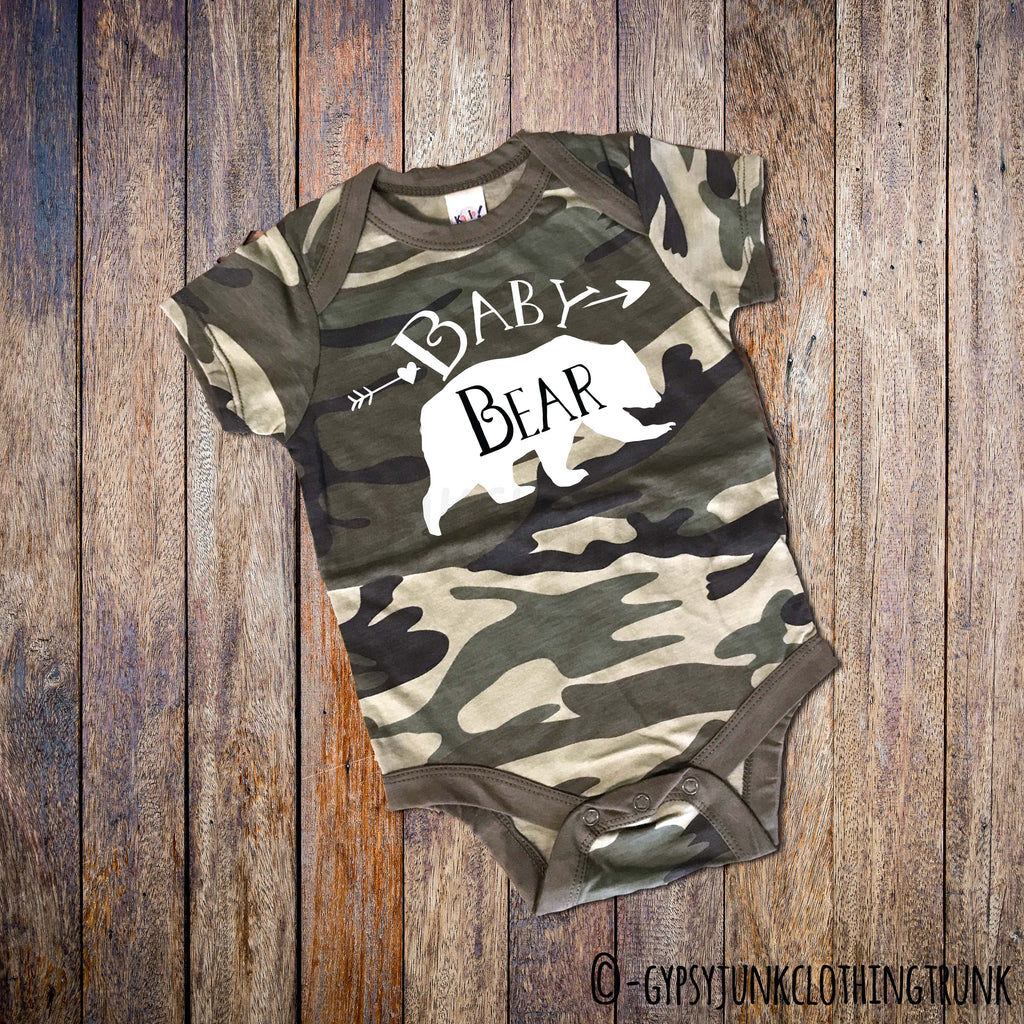 Camo Baby Outfit - Bear Top for Baby - Rebels and Roses Boutique