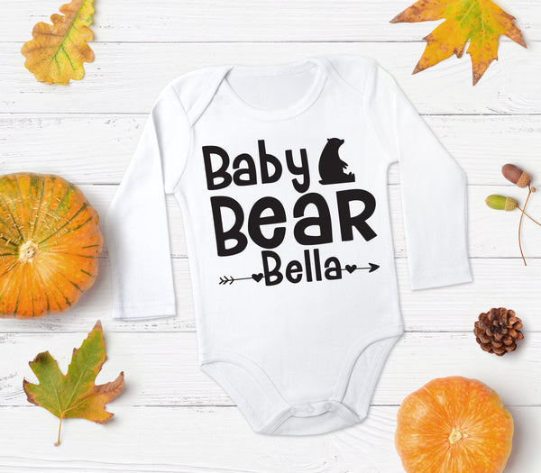 Baby Bear Custom Name Top - Bear Top for Baby - Gypsy Junk Clothing Trunk