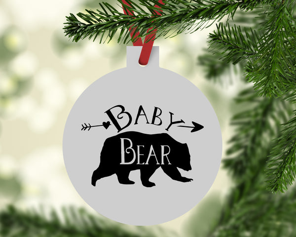 Baby Bear Christmas Ornament - Rebels and Roses Boutique