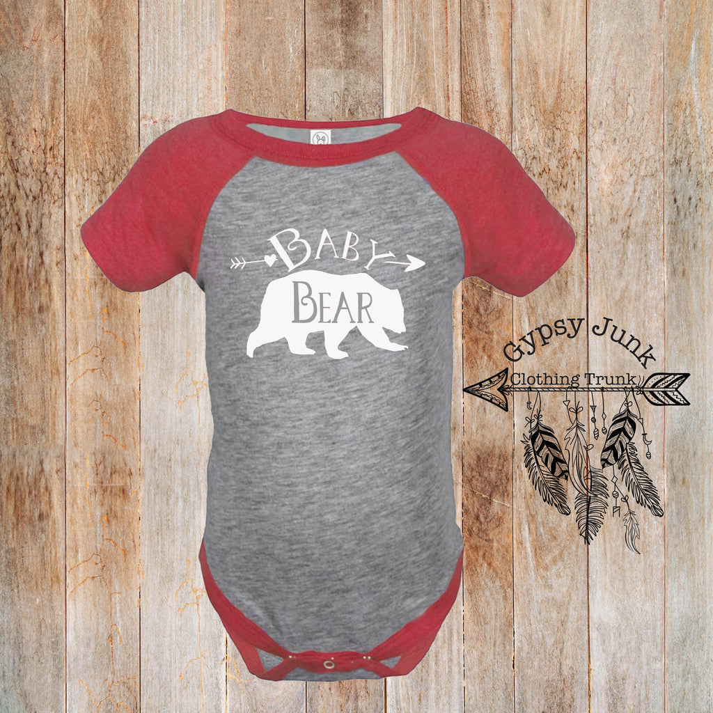 Baby Bear Bodysuit - Bear Top for Baby - Rebels and Roses Boutique