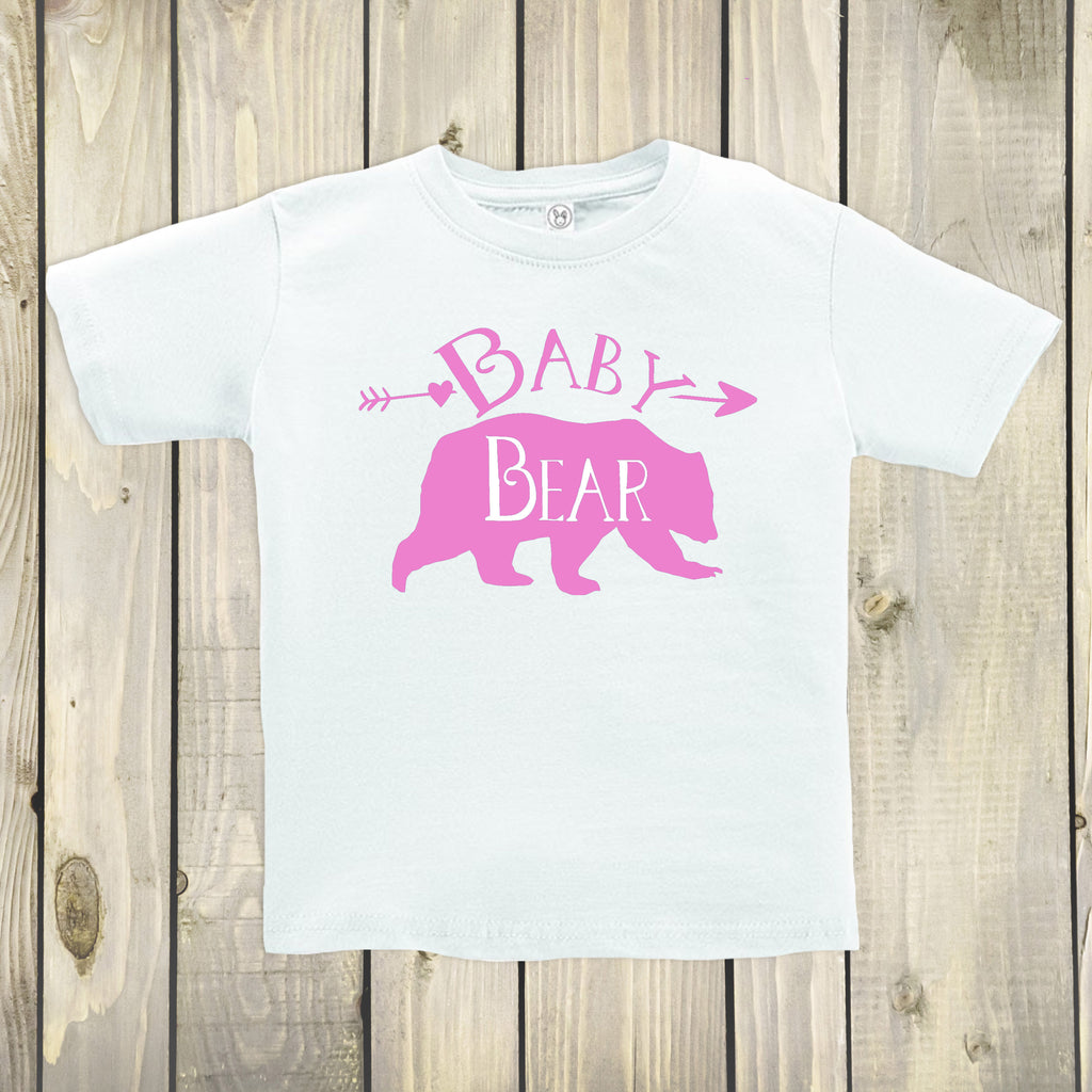 Baby Bear White Crew Neck - Bear Tops for Kids - Rebels and Roses Boutique