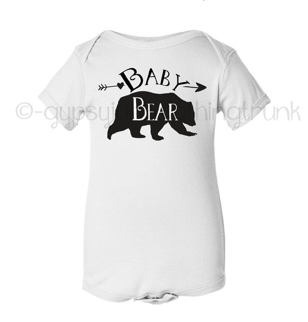 Baby Bear Black and White Bodysuit
