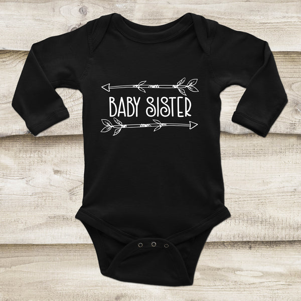 Baby Sister Outfit - Sibling Baby Outfit - Rebels and Roses Boutique