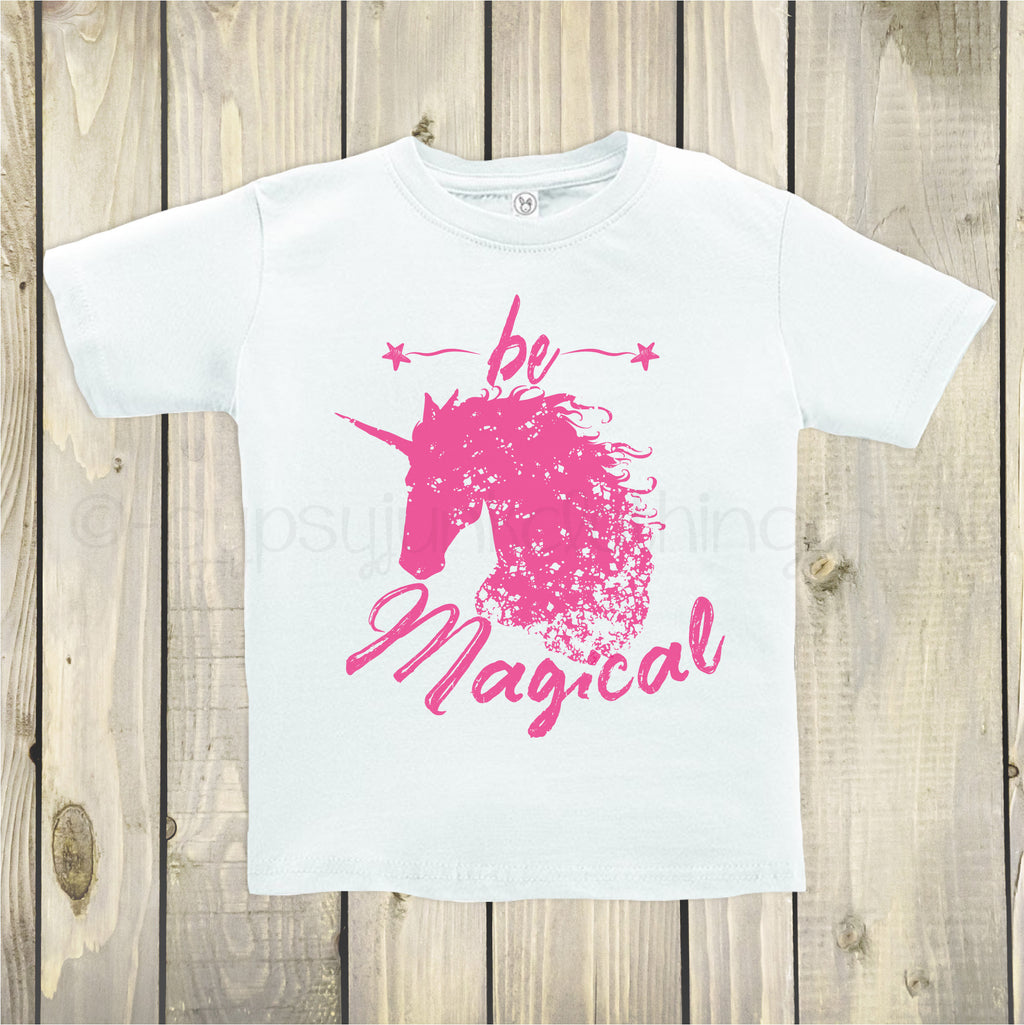 Unicorn Shirt, Unicorn Top, Inspirational Top, Be Magical Shirt, Unicorn Top for Kids