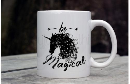 Be Magical Coffee Mug - Unicorn Coffee Mug - Rebels and Roses Boutique