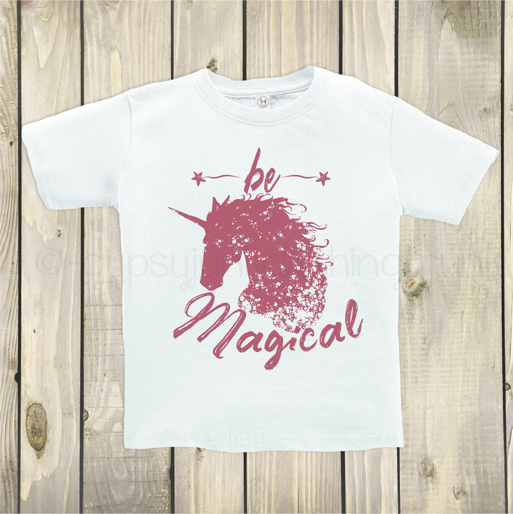 Unicorn Shirt, Unicorn Top, Inspirational Top, Be Magical Shirt, Unicorn Top for Kids - Rebels and Roses Boutique