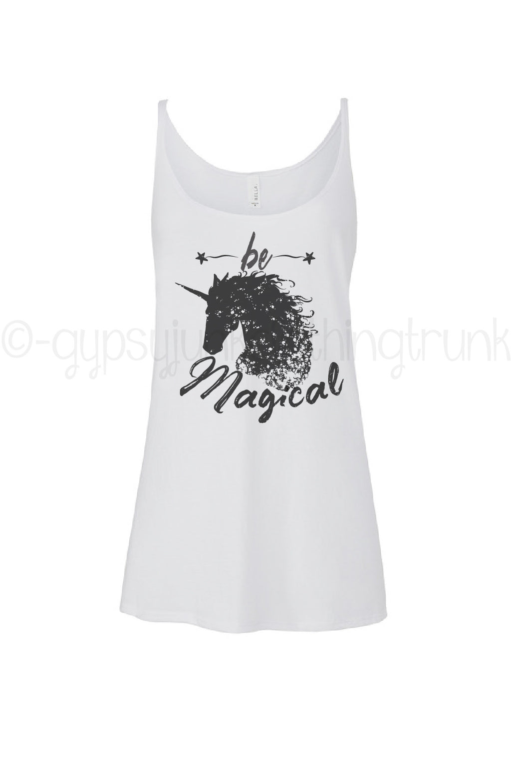 Unicorn Tank Top, Unicorn Shirt, Motivational Shirt, Boho Tank Top - Gypsy Junk Clothing Trunk