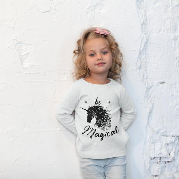 Be Magical - Unicorn Little Girls Boho Woodland Kids Top - Rebels and Roses Boutique