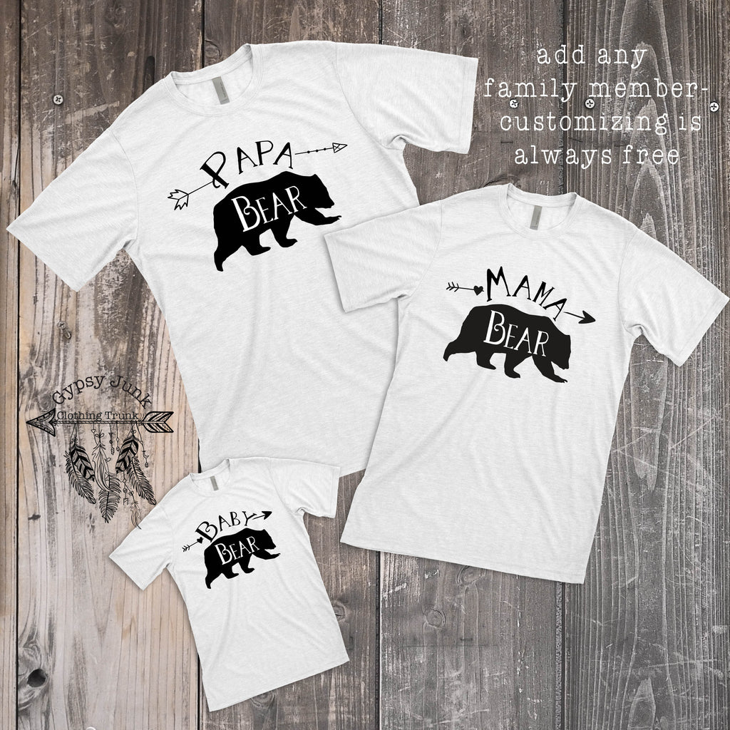 Matching Bear Family Tees - Family Matching Outfits - Rebels and Roses Boutique