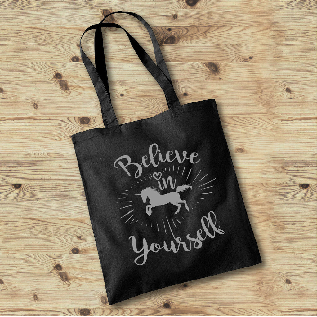 Believe in Yourself Tote Bag - Personalized Boho Tote Bag - Rebels and Roses Boutique