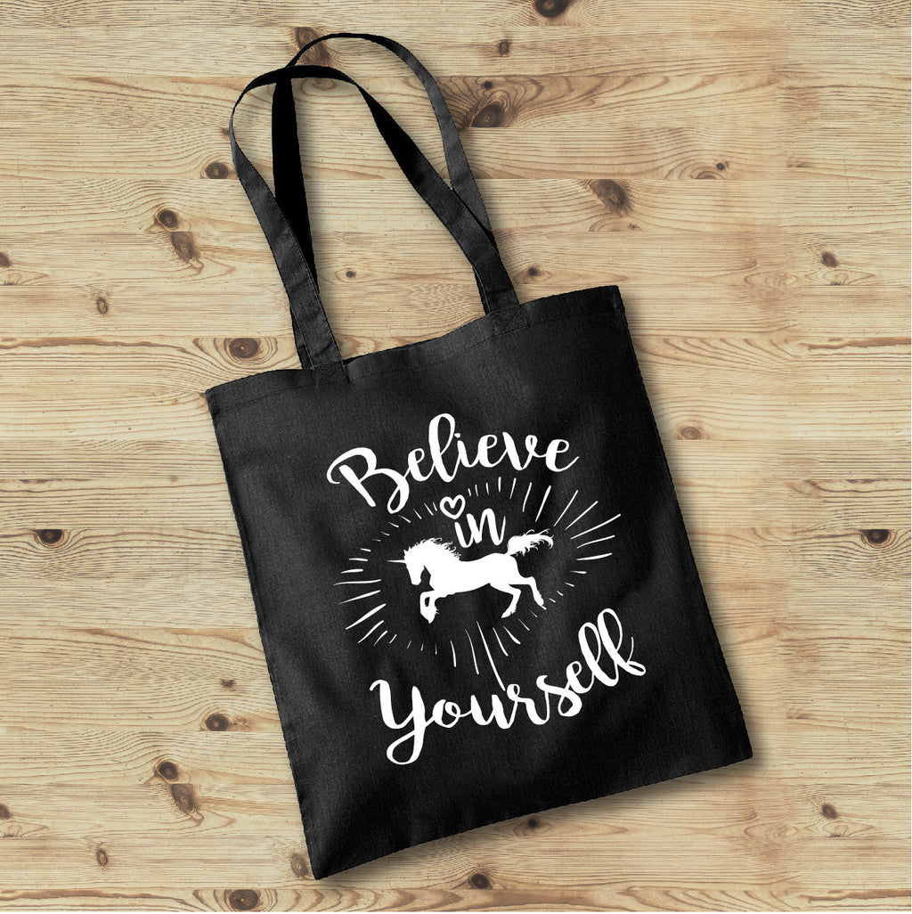 Believe in Yourself Unicorn Tote Bag