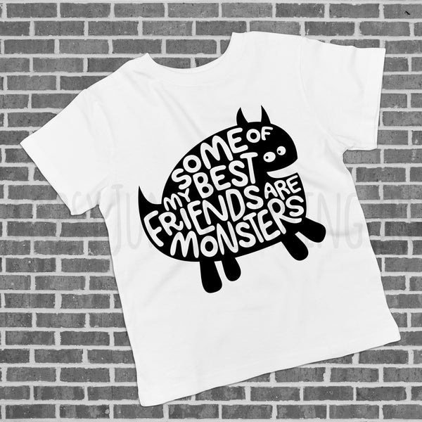 Monster Best Friends - Fun Kids Tee - Rebels and Roses Boutique