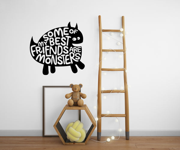 Monsters Best Friends Wall Decal