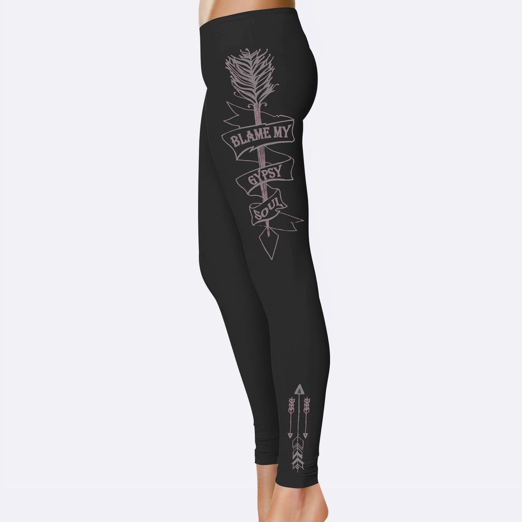 Gypsy Soul Leggings - Leggings For Women - Rebels and Roses Boutique