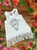Cow Skull Fringe Baby Dress - Black and White - Gypsy Junk Clothing Trunk