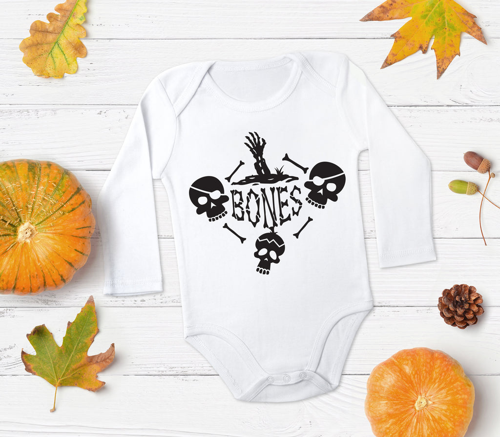 Bones Baby Outfit - Halloween Baby Clothes