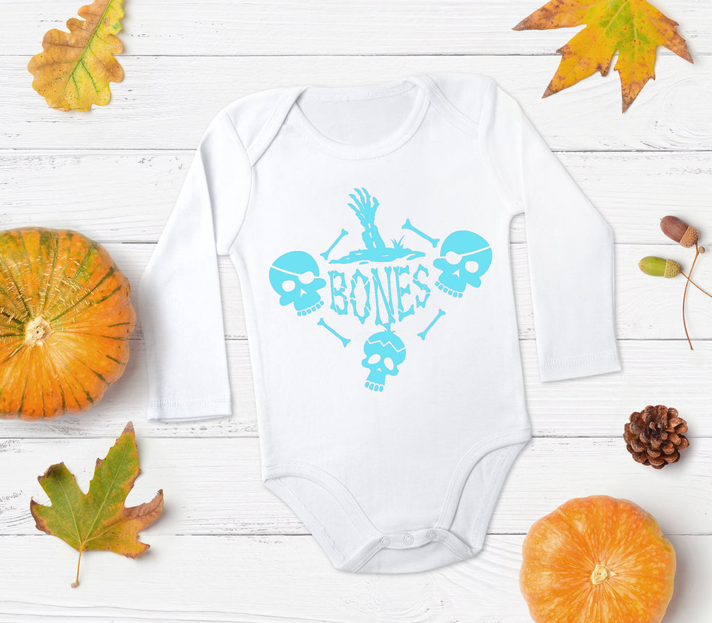 Bones Baby Outfit - Halloween Baby Clothes - Rebels and Roses Boutique