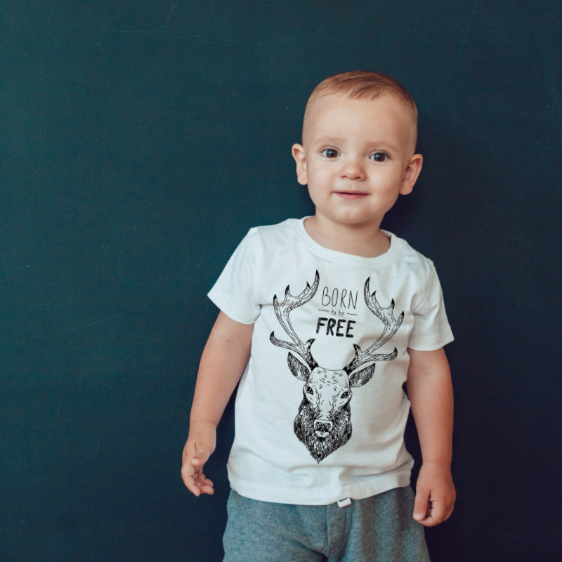 Born To Be Free - Deer Top for Kids - Rebels and Roses Boutique