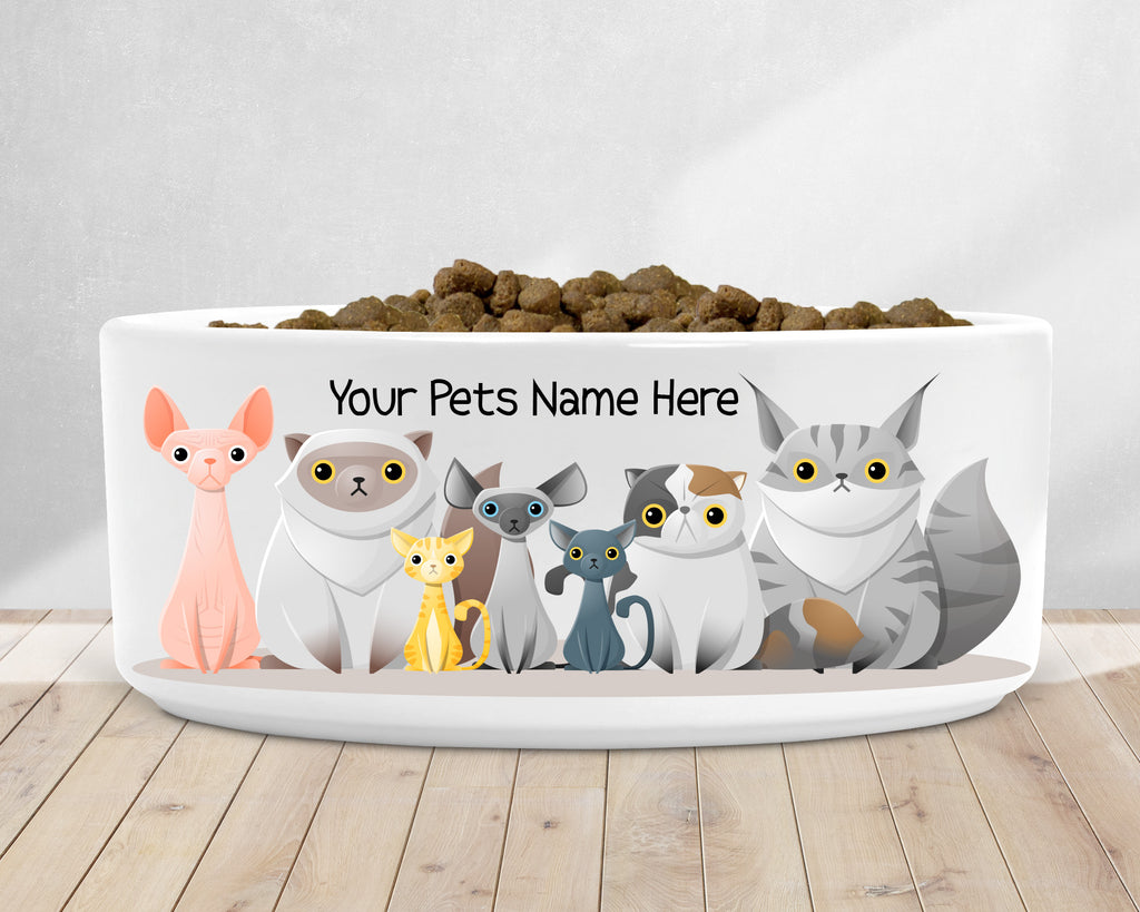 Cat Breed Food Dish - Kitty Dish - Cat Dish - Pet Bowls - Rebels and Roses Boutique