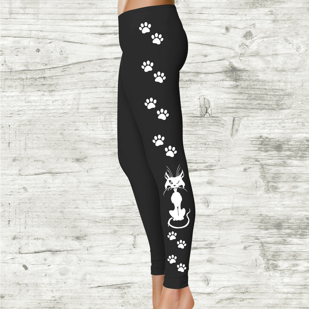 Cat Lady Leggings, Crazy Cat Lady Leggings - Leggings for Women - Rebels and Roses Boutique
