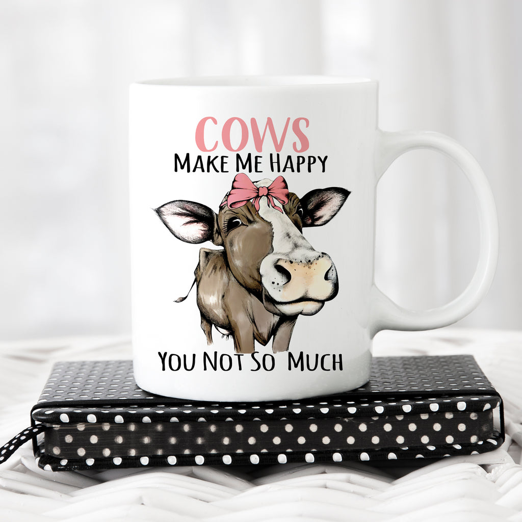 Cows Make Me Happy -Dairy Coffee Mug - Rebels and Roses Boutique