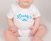 Daddy's Little Man - Father's Day Baby Bodysuit - White and Black - Gypsy Junk Clothing Trunk