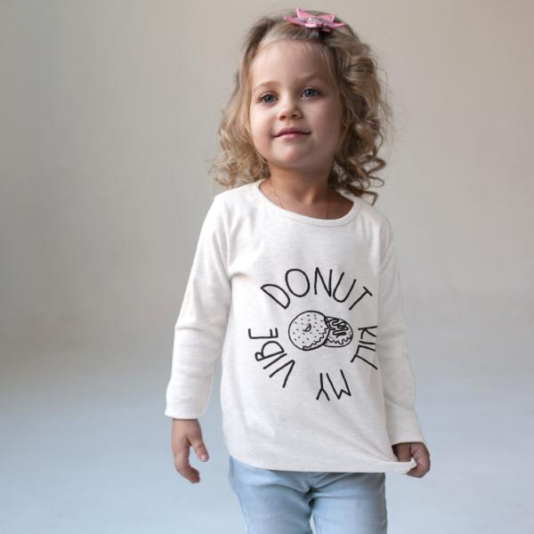 Donut Kill My Vibe Foodie Top for Kids