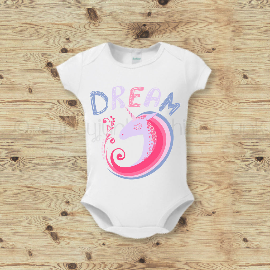 Dream Unicorn Top, Dream Baby Top, Boho Baby Outfit - Rebels and Roses Boutique