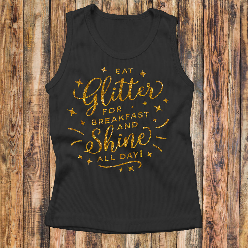 Eat Glitter And Shine All Day - Kids Tank Top - Rebels and Roses Boutique