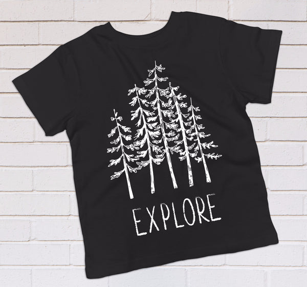 Explore the Outdoors - Boho Woodland Kids Top - Rebels and Roses Boutique