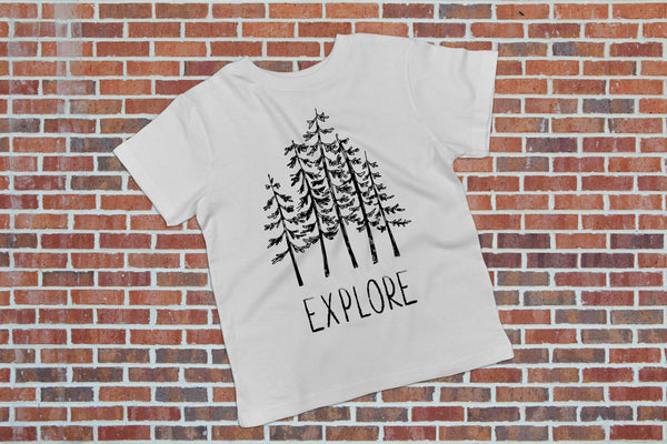 Explore Black and White Kids Top - Boho Kids