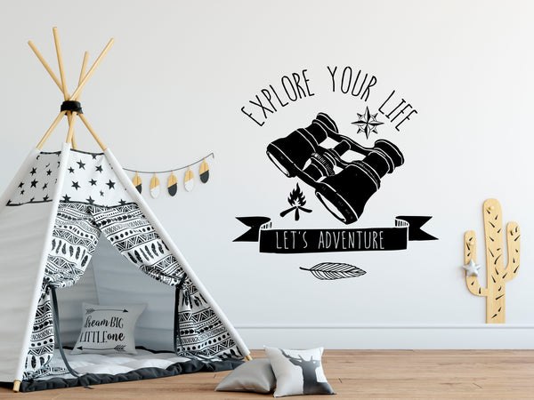 Explorer Boys Room Wall Decals - Gypsy Junk Clothing Trunk