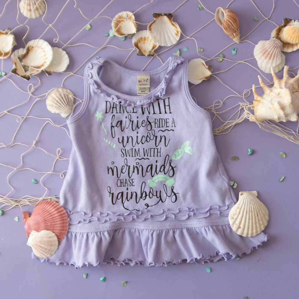 Fairy Dress - Mermaid Dress, Ruffled Beach Baby Dress - Rebels and Roses Boutique