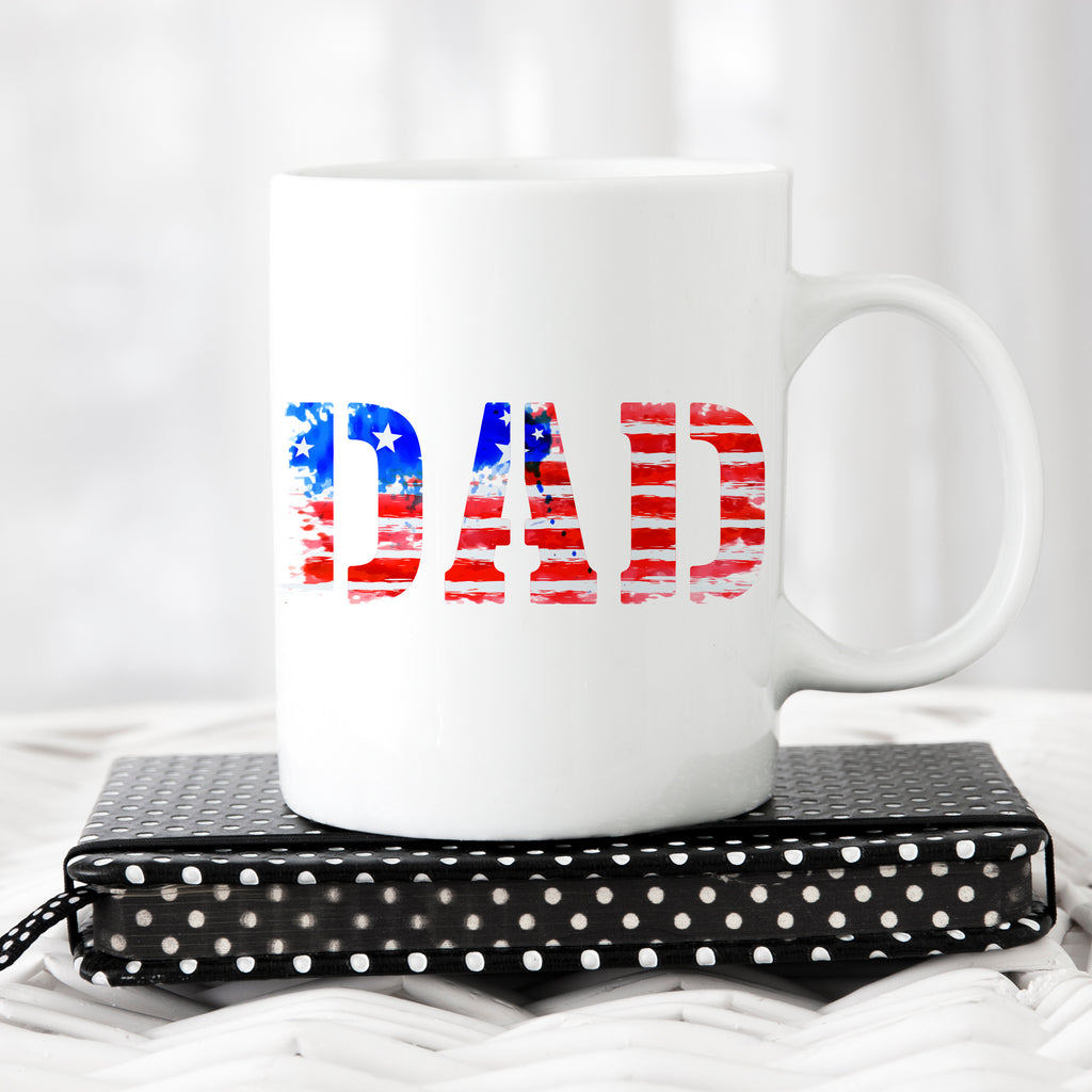 Father's Day Coffee Mug - American Dad Mug - Coffee Mug for Dad - Rebels and Roses Boutique