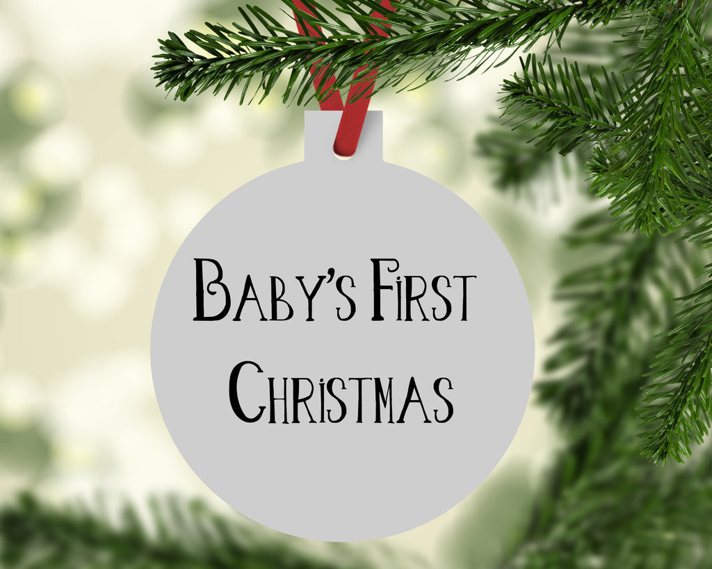 Baby Bear Buffalo Plaid Christmas Ornament - Rebels and Roses Boutique