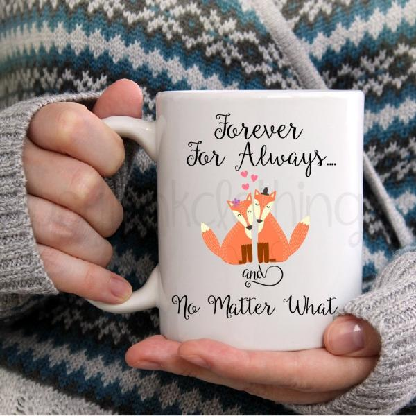 Couples Coffee Mug - Engagement Announcement - Fox Coffee Mug - Rebels and Roses Boutique